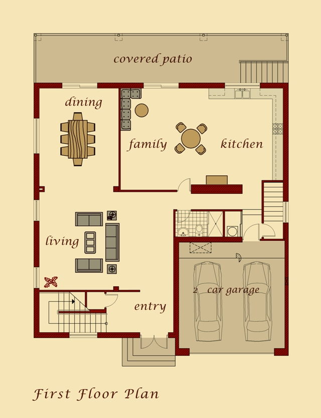 Moush Model First Floor Plan